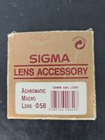 Sigma Lens Accessory Achromatic Macro Lens 58mm