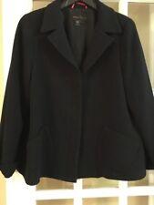 NINA MCLEMORE BLACK Wool Blazer/ Jacket Size 12