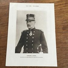 DAILY MAIL WAR ALBUM WWI World War 1 Photo Print GENERAL LEMAN he defended Liege