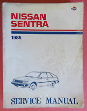 1985 Nissan Sentra Service Manual O.E.M Nissan Motor Co. LTD (Printed In Japan)