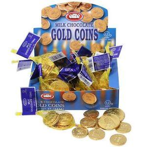 8 Small Bags of CHANUKAH GELT.. Milk Chocolate Gold Coins........ Kosher Judaica