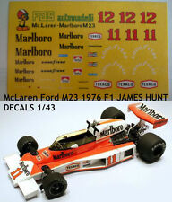 DECALS KIT 1/43 McLaren Ford M23 1976 F1 JAMES HUNT
