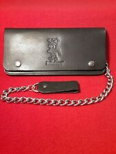 Mississippi State Bulldogs Black Genuine Leather Chain Wallet