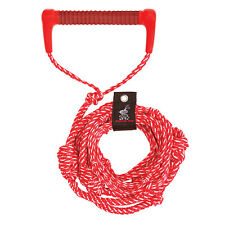 Airhead Ahws-R02 Wakesurf Tow Rope 25ft 5 Sections Electric Red w/Eva Handle