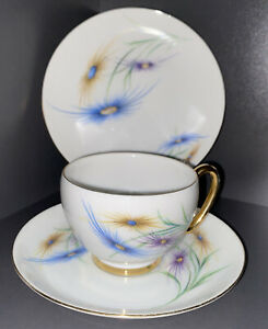 WESTMINSTER CHINA Tea Trio, CUP SAUCER AND PLATE.  As new condition. Design 305.