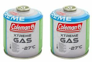 Coleman Extreme Gas C300 x2 Canisters Gaarden BBQ Picnic Cooking Camping Outdoor