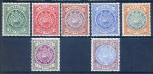 Antigua 1908-1917 Edward 7th values to 1sh mint hinged mint (2020/03/16#02)