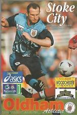 Football Programme - Stoke City v Oldham - Div 1 - 29/3/1997
