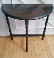Vintage/Antique Demilune Half Moon End/Side Table - Victorian Style Spindles