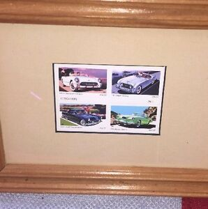 2004 - America On The Move - Cars, Chevrolet, Ford, Nash,Postage Stamps - Framed