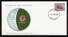 Western Samoa Coins of All Nations PNC Cover 1974 Sene UNC Coin