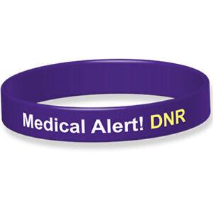 Silicone Medical Wristband DNR