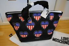 Love Moschino Handtasche Shopper  Amerika Flage Herzen NEU
