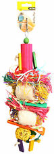 Avi One Destructable Toy Loofe With Rattan Ball And Wooden Beads Parrot Budgie