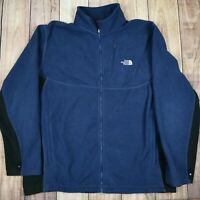 Mens Vintage The North Face Fleece Jacket Blue Size XL