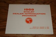 1969 Ford Mustang Shelby Cobra Dealer Introduction Program Manual 69