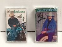 ALAN JACKSON: 2 Cassettes A LOT ABOUT LIVIN-DONT ROCK tHE JUKEBOX Both SEALED!!