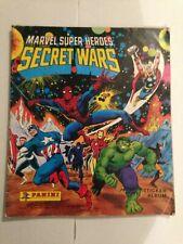 Marvel Super Heroes Secret Wars Panini Sticker Album l986 FULLY Complete Rare