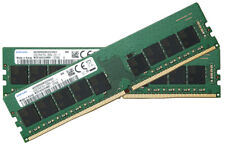 Samsung 64gb (32gbx2) ddr4 pc4-21300 2666mhz 288pin Unbuffered ECC DIMM 1.2v RAM