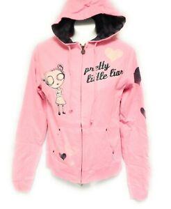 Womens Juniors David & Goliath Pretty Little Liar Pink Zip Hoodie Sweatshirt