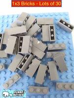 LEGO 1x3 Light Bluish Gray Bricks City Creator Farm Walls Building 3622 NEW