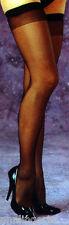 Fantasy Lingerie Black Sheer Queen Size Stockings