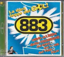"""883 MAX PEZZALI """" LA DURA LEGGE DEL GOL """"  CD 1 EDIZIONE con PALLINA e FIGURINE"""