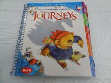 Houghton Mifflin Harcourt Texas Journeys Grade K Teacher's Edition All 6 Volumes
