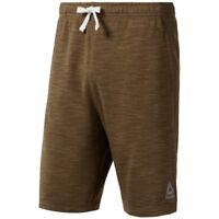 Reebok Men's Lifestyle Marble Melange Shorts (Army Green) CE3928