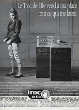 Publicité 1991  troc de l'ile dépot vente entrepot vente du particulier meuble