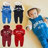 """Vaenait baby Infant Clothes Boys Fleece Outfits Bodysuit """"Boys Hoodie"""" 6-18M"""