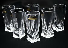 Set of 6 Tequila Shot Glass 2 oz Vodka Whiskey Crystal Glass Bohemia Czech Glass