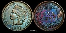 1892 1C Indian Head Cent Amazing Color Toning!