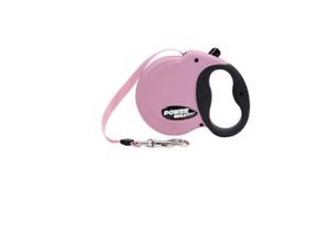 Power Walker Dog Retractable Leash Medium - Pink