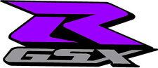 "#649 (1) 6""  Suzuki GSXR Racing Race Bike Custom Decal Sticker LAMINATED Purple"
