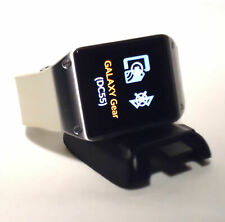 Samsung Galaxy Gear SM-V700 Stainless Steel Smart Watch White Band with Cradle