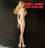"1/6 Female Fishnet Dress For 12"" TBLeague PHICEN Hot Toys Figure Doll USA"