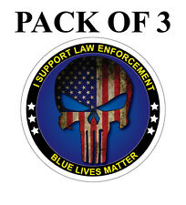 "Blue Lives Matter 4"" Car or Truck Decal Sticker American Flag Police Cops Laptop"