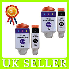 4 x Advent ABK10 & ACLR10 Ink Cartridges Replace for A10 AW10 AWP10 Printer