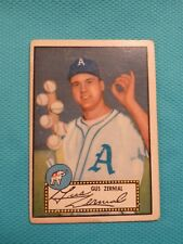 1952 Topps #31 31A Gus Zernial Black Back with six baseballs - Philadelphia A's