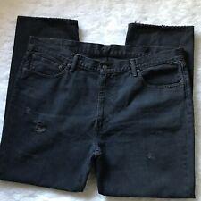 Levi's 541 Men's 40x30 Black Distressed Denim Jeans 100% Cotton