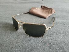 Oakley Inmate Polished Gold w/ Dark Gray Lenses Very Rare