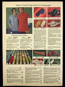 1973 Curling Sweaters Pants Shoes Brooms Bags Sliders Print Advertising 550A