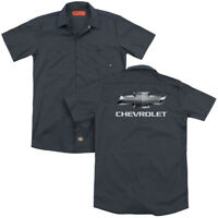 CHEVROLET Charcoal Chevy Bowtie Licensed Adult Dickies Work Shirt All Sizes