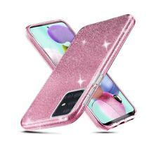 Hülle Für Samsung Galaxy A51 Silikon TPU Rosa Glänzend Glitter Gehäuse
