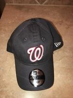 Washington Nationals MLB New Era Core Fitted 49Forty Baseball Hat Cap Gray Large