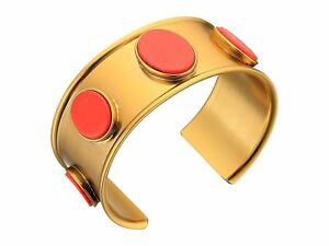 """KATE SPADE $98 Gorgeous """"Bright & Bold"""" Gold Plated  Red Howlite Cuff Bracelet"""