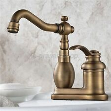Antique Brass 2 Hole Single Lever Laundry Sink Basin Faucet Faucets Bnf429