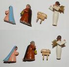 Vintage German Christmas Pyramid Replacement Family & Angel erzgebirgische wood
