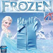 UK Frozen Elsa Princess Satin Gloves Girls Fancy Dress Cosplay Toy Gift CPS001